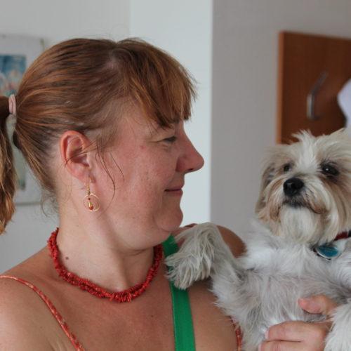 Roula in Aktion als Besuchshund